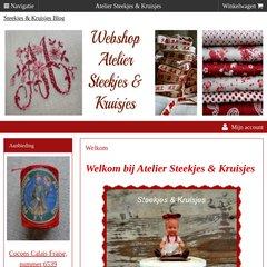 Steekjes En Kruisjes Webwinkel.Www Ateliersteekjesenkruisjes Nl Welkom Atelier Steekjes