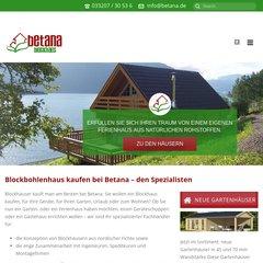 Www Betana Gmbh De Blockhaus Blockbohlenhaus