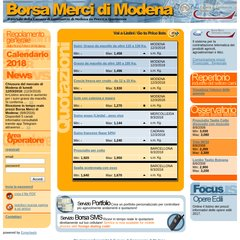 marchio famoso Garanzia di soddisfazione al 100% buona vendita www.Borsamercimodena.it - Borsa Merci di Modena