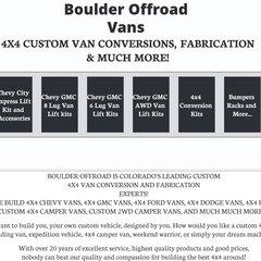 Wwwboulderoffroadvanscom Boulder Offroad 4x4 Van Custom Conversions