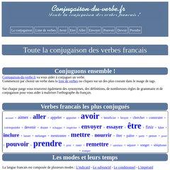 Www Conjugaison Du Verbe Fr La Conjugaison Des Verbes Francais