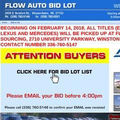 Www Flowautobidlot Com Flow Auto Bidlot Of Winston