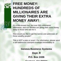 www Gennyweb com - FREE MONEY: HUNDREDS OF MILLIONAIRES ARE