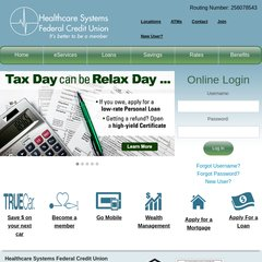 Healthcare Systems Federal Credit Union >> Www Hsfcu1 Org Healthcare Systems Federal Credit Union