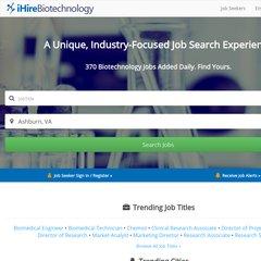 www Ihirebiotechnology com - Biotech Jobs at iHireBiotechnology