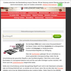 Online Kreuzworträtselhilfe