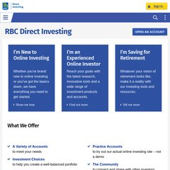 www Rbcdirectinvesting com - Online Investing and Trading