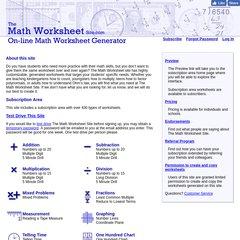 The Math Worksheet Site