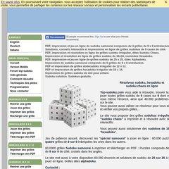 www Top-sudoku com - Résolveur sudoku, hexadoku sudoku 16X16