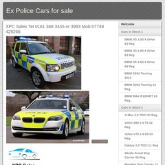 www Xpcarsales co uk - Ex Police Cars